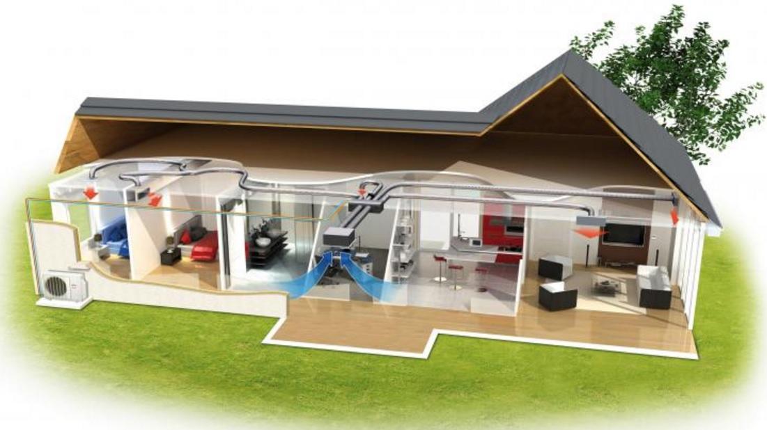 Pompe chaleur air air chauffage rt2012 for Chauffage rt 2012 maison individuelle